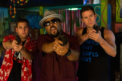 Jonah Hill, Ice Cube, and Channing Tatum in 22 Jump Street. 2014 Sony Pictures.