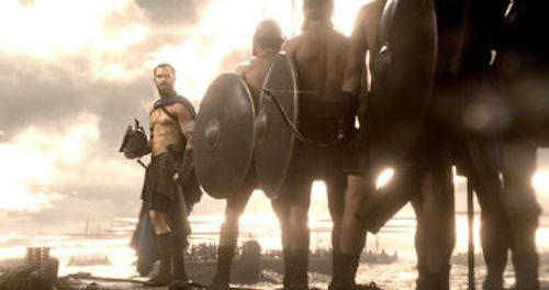 Sullivan Stapleton as Themistokles in 300: Rise of an Empire. 2014 Warner Bros.
