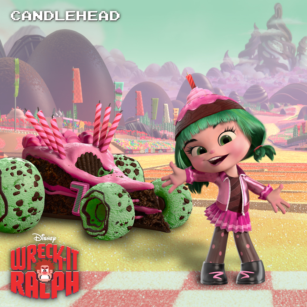 Candlehead: Happy Hot Head Candlehead is a riot who's able to laugh at herself—even when she's the butt of the joke. Hynotized by the flame atop her own head, she gets lost in a haze of Happy Birthdays. Sugar Rush and its daily races wouldn't be complete without Candlehead, but she's a few scoops short of a sundae.