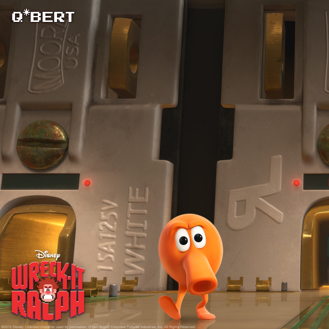 "Q*Bert: Unplugged Q*Bert, whose game was long ago unplugged, spends most of his time in Game Central Station, the travel hub for all arcade-game characters—and the unfortunate ""home"" to those whose games are over."