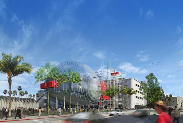 The current architectural rendering for The Academy Museum of Motion Pictures.  credit: ©Renzo Piano Building Workshop/