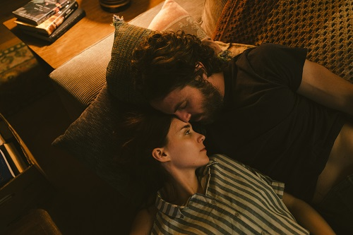 Rooney Mara and Casey Affleck in A Ghost Story, photo by Bret Curry, courtesy of A24.