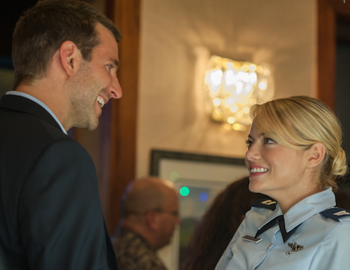 Bradley Cooper, left, and Emma Stone star in Columbia Pictures' Aloha. 2015 Columbia Pictures Industries, Inc. All Rights Reserved. ALL IMAGES ARE PROPERTY OF SONY PICTURES ENTERTAINMENT INC. FOR PROMOTIONAL USE ONLY. SALE, DUPLICATION OR TRANSFER OF THIS MATERIAL IS STRICTLY PROHIBITED.