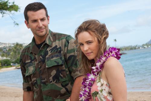 Bradley Cooper, left, and Rachel McAdams star in Columbia Pictures' Aloha. 2015 Columbia Pictures Industries, Inc. All Rights Reserved. ALL IMAGES ARE PROPERTY OF SONY PICTURES ENTERTAINMENT INC. FOR PROMOTIONAL USE ONLY. SALE, DUPLICATION OR TRANSFER OF THIS MATERIAL IS STRICTLY PROHIBITED.