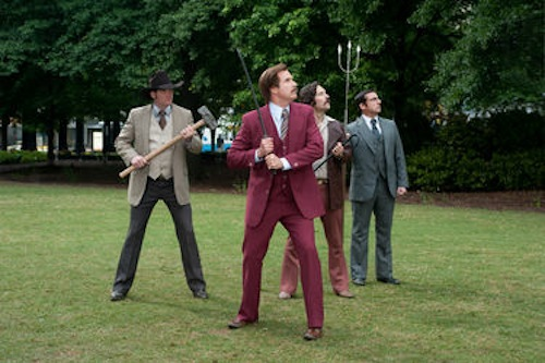 A scene from Anchorman 2: The Legend Continues. 2013 Paramount Pictures.