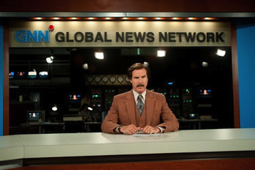 Will Ferrell as Ron Burgundy in Anchorman 2: The Legend Continues. 2013 Paramount Pictures.
