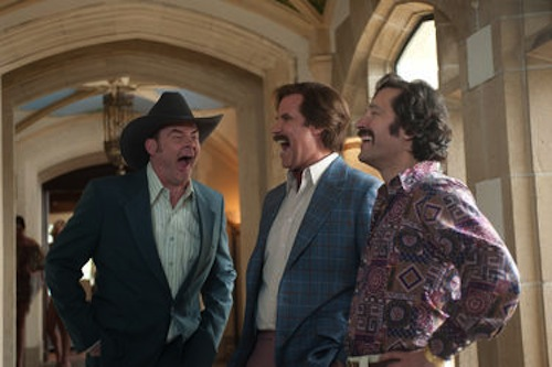 David Koechner, Will Ferrell and Paul Rudd in Anchorman 2: The Legend Continues. 2013 Paramount Pictures.