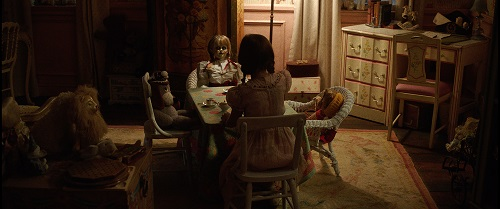 The Annabelle doll in New Line Cinema's supernatural thriller ANNABELLE: CREATION, a Warner Bros. Pictures release. Courtesy of Warner Bros. Pictures and New Line Cinema, © 2017 WARNER BROS. ENTERTAINMENT INC. AND RATPAC-DUNE ENTERTAINMENT LLC.