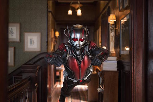 Paul Rudd and Evangeline Lilly in Ant-Man. 2015. All rights reserved.