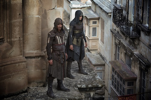 Assassin's Creed - Through a revolutionary technology that unlocks his genetic memories, Callum Lynch (Michael Fassbender) experiences the adventures of his ancestor, Aguilar, in 15th Century Spain with Maria (Ariane Labed). Photo Credit: Kerry Brown. Twentieth Century Fox Film Corporation 2016 All rights reserved.