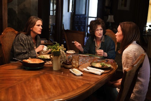 Julia Roberts, Meryl Streep and Julianne Nicholson in August: Osage County. 2013 Claire Folger / Weinstein Co.