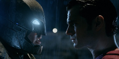 Still of Ben Affleck and Henry Cavill in Batman v Superman: Dawn of Justice (2016). Photo by Courtesy of Warner Bros. Copyright 2015 Warner Bros. Entertainment Inc., Ratpac-Dune Entertainment LLC and Ratpac Entertainment, LLC.