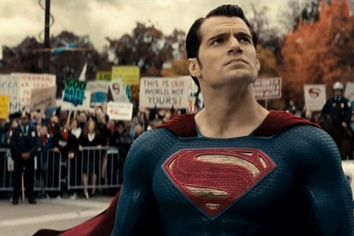 Still of Henry Cavill in Batman v Superman: Dawn of Justice (2016).  Photo by Courtesy of Warner Bros. Copyright 2015 Warner Bros. Entertainment Inc., Ratpac-Dune Entertainment LLC and Ratpac Entertainment, LLC.