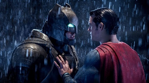 TStill of Ben Affleck and Henry Cavill in Batman v Superman: Dawn of Justice (2016).  Photo by Courtesy of Warner Bros. Copyright 2015 Warner Bros. Entertainment Inc., Ratpac-Dune Entertainment LLC and Ratpac Entertainment, LLC.