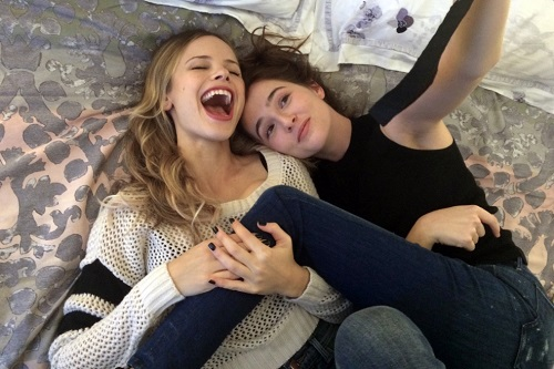Halston Sage and Zoey Deutch in BEFORE I FALL, photo courtesy Awesomeness Films/Open Road Films, All rights reserved.