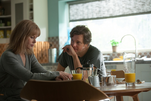 Amnesiac Christine Lucas (NICOLE KIDMAN) must decide if everything her husband, Ben (COLIN FIRTH), tells her is the truth in BEFORE I GO TO SLEEP. Photo credit: Laurie Sparham/Clarius Entertainment.