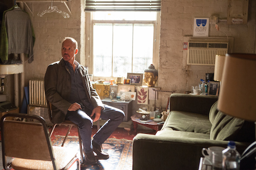 Michael Keaton as Riggan in BIRDMAN.