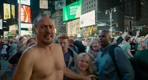 Michael Keaton as Riggan in BIRDMAN. Photo courtesy of Fox Searchlight Pictures