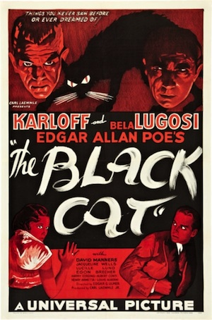The Black Cat, starring Boris Karloff and Bela Lugosi