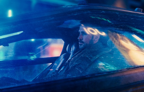 RYAN GOSLING as K in Alcon Entertainment's action thriller BLADE RUNNER 2049, a Warner Bros. Pictures and Sony Pictures Entertainment release, domestic distribution by Warner Bros. Pictures and international distribution by Sony Pictures.