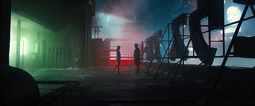 (L-R) ANA DE ARMAS as Joi and RYAN GOSLING as K in Alcon Entertainment's action thriller BLADE RUNNER 2049, a Warner Bros. Pictures and Sony Pictures Entertainment release, domestic distribution by Warner Bros. Pictures and international distribution by Sony Pictures.