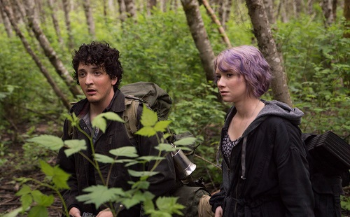 Lane (Wes Robinson) and Talia (Valorie Curry) in BLAIR WITCH. Photo Credit: Chris Helcermanas-Benge, photo courtesy Lionsgate Films.