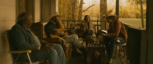 Ben Dickey as Blaze Foley, and Charlie Sexton as Townes Van Zant in Ethan Hawke's BLAZE. Courtesy of IFC Films. An IFC Films release.