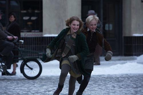 Sophie Nelisse as Liesel and Nico Liersch as Rudy in The Book Thief. 2013 Jules Heath / Twentieth Century Fox.