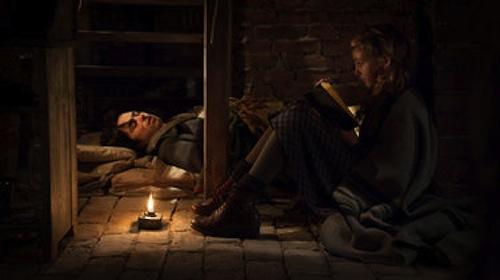 Ben Schnetzer as Max and Sophie Nelisse as Liesel in The Book Thief. 2013 Jules Heath / Twentieth Century Fox.