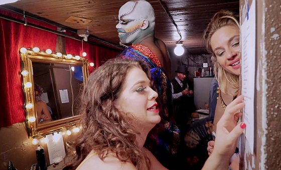 "(L-R) Babs Jamboree and Isaiah Esquire in the documentary ""BURLESQUE: HEART OF THE GLITTER TRIBE"" an XLrator Media release. Photo courtesy of XLrator Media."