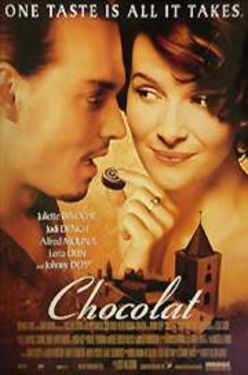 Johnny Depp and Juliette Binoche in Chocolat