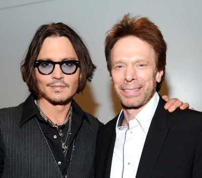 Johnny Depp and Jerry Bruckheimer at CinemaCon 2012