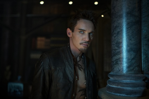 Valentine (Jonathan Rhys Meyers) tells Jace that he's his father in Screen Gems fantasy-action THE MORTAL INSTRUMENTS: CITY OF BONES. PHOTO BY:	Rafy COPYRIGHT:	2013 Constantin Film International GmbH and Unique Features (TMI) Inc. All rights reserved. ALL IMAGES ARE PROPERTY OF SONY PICTURES ENTERTAINMENT INC. FOR PROMOTIONAL USE ONLY. SALE, DUPLICATION OR TRANSFER OF THIS MATERIAL IS STRICTLY PROHIBITED.