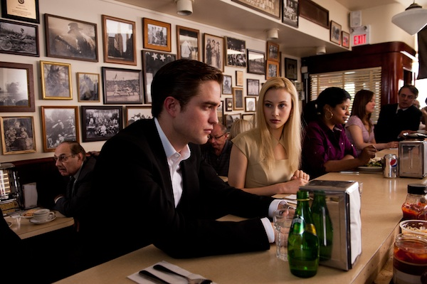 "Robert Pattinson (left) stars as ""Eric Packer"" and Sarah Gadon stars as ""Elise Shifrin"" in the upcoming release of Entertainment One's COSMOPOLIS"