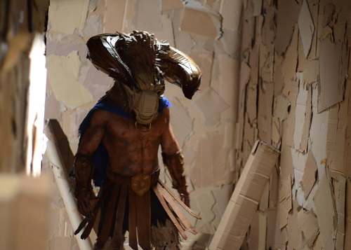 DAVE MADE A MAZE - John Hennigan as The Minotaur, photo by Chelsea Coleman, courtesy Gravitas Ventures 2017, All Rights Reserved.