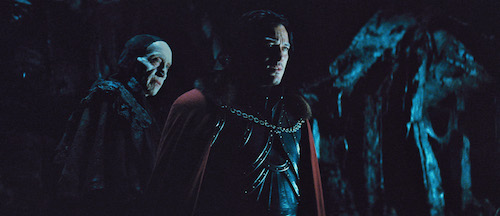 (L to R) The Master Vampire (CHARLES DANCE) offers Vlad (LUKE EVANS) an impossible decision in Dracula Untold, the origin story of the man who became Dracula. Gary Shore directs and Michael De Luca produces the epic action-adventure.Photo Credit: Universal Pictures Copyright: 2014 Universal Studios. ALL RIGHTS RESERVED.