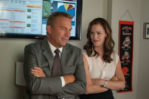 Kevin Costner and Jennifer Garner in Draft Day. 2014 Summit Entertainment.