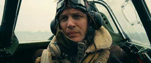 TOM HARDY as Farrier in the Warner Bros. Pictures action thriller DUNKIRK, a Warner Bros. Pictures release. Photo credit: Melinda Sue Gordon.