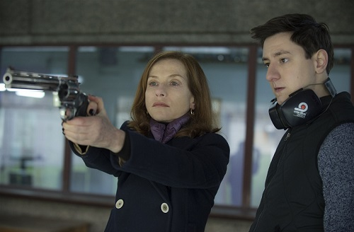 Isabelle Huppert and Arthur Mazet in Elle, photo courtesy Sony Pictures Classics.
