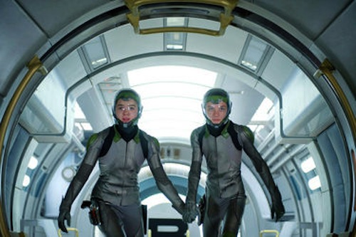 Hailee Steinfeld and Asa Butterfield in Ender's Game. 2013 Summit Entertainment.
