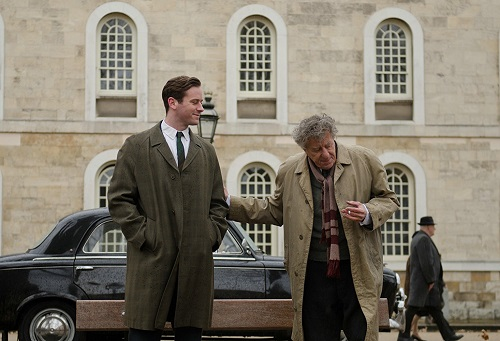 Armie Hammer and Geoffrey Rush in Final Portrait, courtesy Sony Pictures Classics.