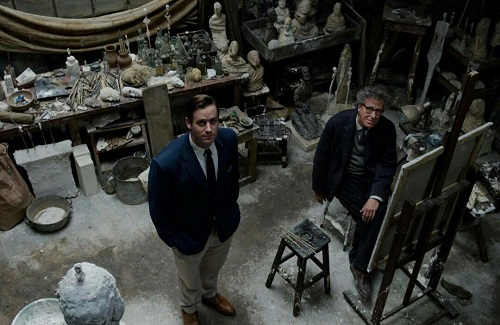 Geoffrey Rush and Armie Hammer in Final Portrait, courtesy Sony Pictures Classics.