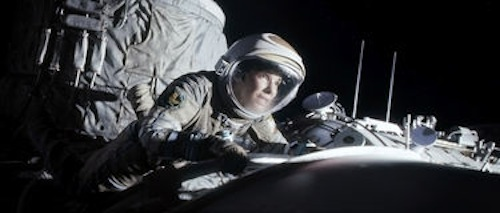 Sandra Bullock as Dr. Ryan Stone in Gravity. 2013 Warner Bros.