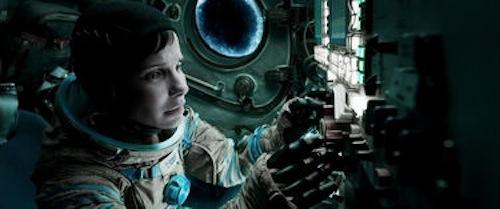Sandra Bullock as Dr. Ryan Stone in Gravity. 2013 Warner Bros.