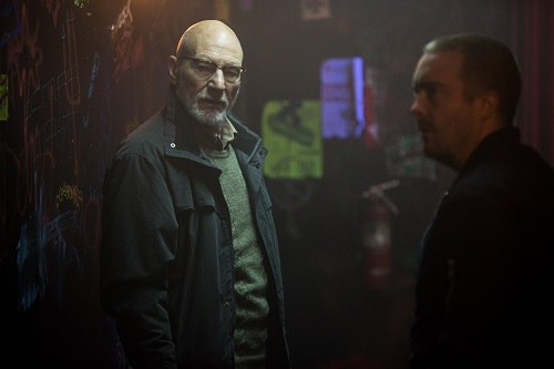 Patrick Stewart in Green Room, photo by Scott Patrick, courtesy of A24.