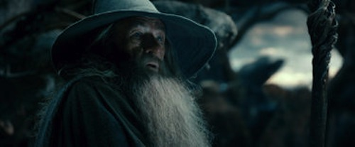 Ian McKellen as Gandalf in The Hobbit: The Desolation of Smaug. 2013 Warner Bros.