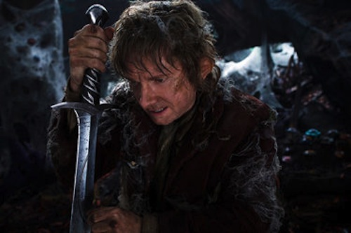 Martin Freeman as Bilbo Baggins in The Hobbit: The Desolation of Smaug. 2013 Warner Bros.