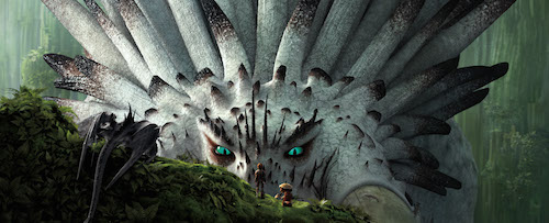 Hiccup (Jay Baruchel) meets the majestic Bewliderbeast. How to Train Your Dragon 2 2014 DreamWorks Animation LLC. All Rights Reserved.