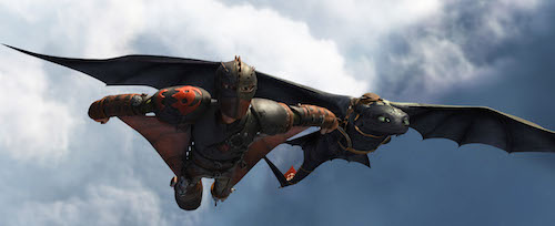 Hiccup (Jay Baruchel) and Toothless do some fancy flying. How to Train Your Dragon 2 2014 DreamWorks Animation LLC. All Rights Reserved.