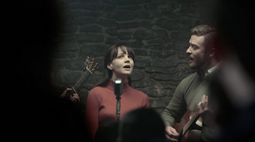 Carey Mulligan and Justin Timberlake in Inside Llewyn Davis. 2013 CBS Films.